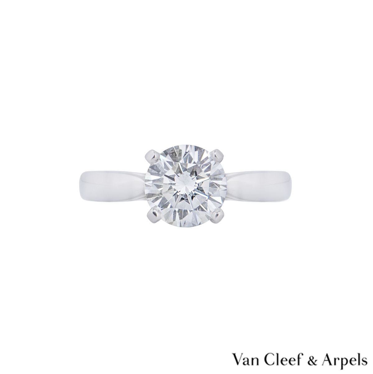 Van Cleef & Arpels Platinum Diamond Bonheur Ring 1.64ct E/VVS2